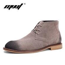 Mvvt ретро мужские ботинки корова замша Мужская обувь ботильоны классические мужские ботинки челси Высокое качество Натуральная кожа мужская обувь