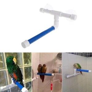 Pet Parrot Ванна Душ стоящая платформа стойка присоска настенная чашка птица игрушки