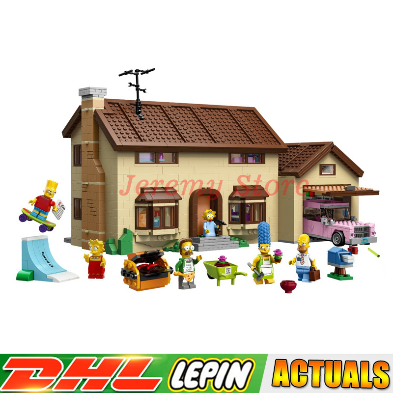 LP 16005 2586 PCSThe Simpsons Bart Homer the Kwik-E-Mart Model Building Blocks Brick kids Toys Compatible LegoINGlys 71016