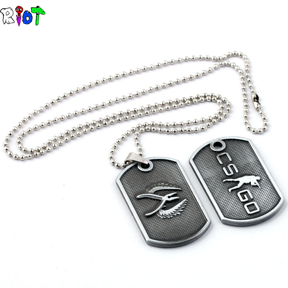 Game Cs Go Round bead chain Stainless Steel Necklace Counter