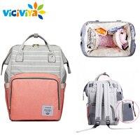 Lequeen Stripe Diaper Bag Backpack Designer Nursing Care Baby Bag Travel Nappy Bag Organizer Waterproof Maternity