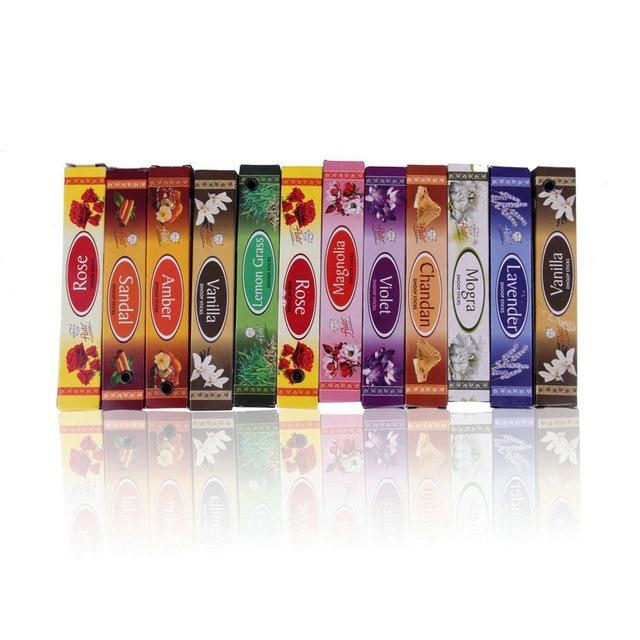 Nowy Mix 10 indyjskie kadzidełka aromaterapia zapach perfum zapach świeżego powietrza sypialnia łazienka akcesoria incienso