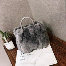 101cdc53ec Autumn and winter new hot sale furry female bag rabbit plush shoulder  handbag Messenger bag ladies