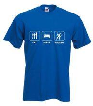 EAT SLEEP SQUASH T-SHIRT TSHIRT RACQUET  SIZES S-XXXL New T Shirts Funny Tops Tee Unisex