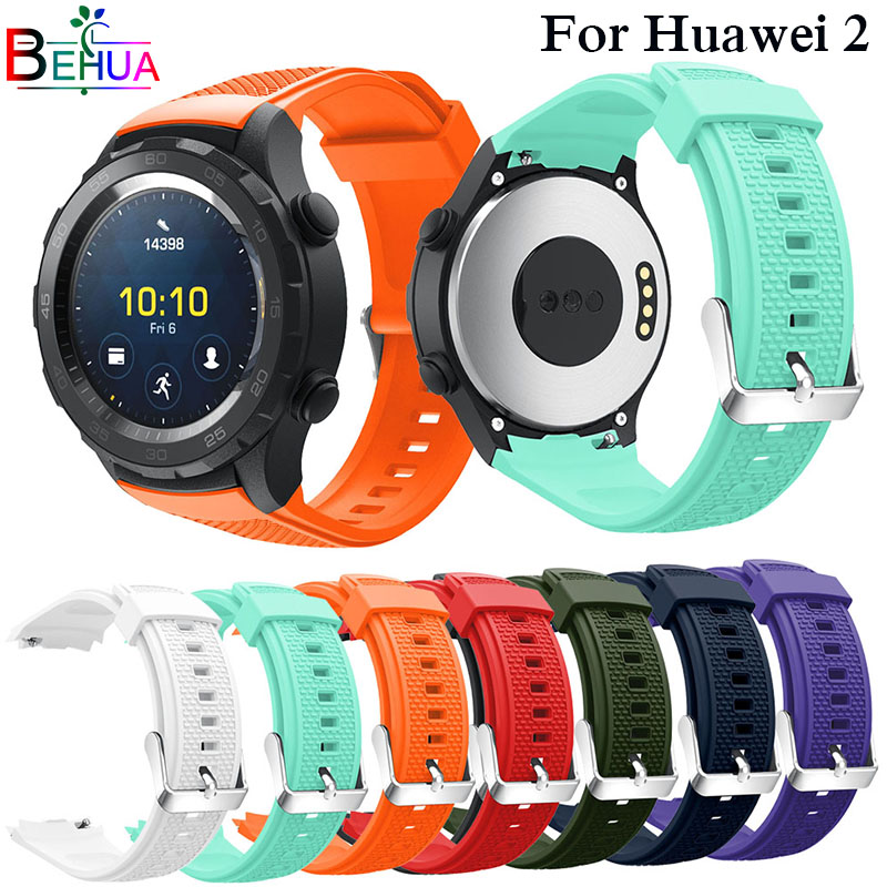 Fashion Replacement Straps For Huawei 2 Wristband Silicagel Soft Silicone Watch Band Strap For Huawei Watch 2 Smart Watchbands 1pc usb charging cable charger dock station for huawei watch 2 smart watch 1m desktop charger cradle cable for huawei watch 2