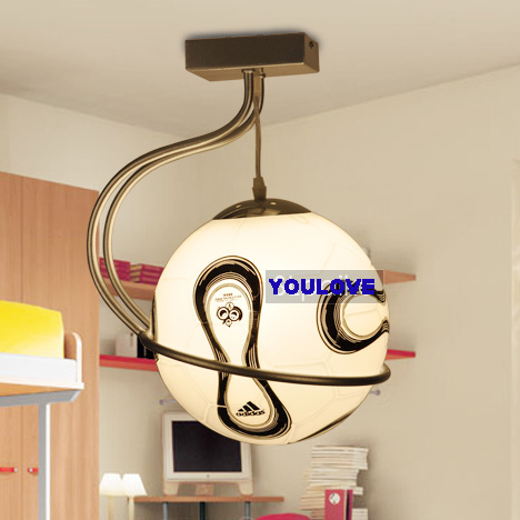 Modern football droplights boys football hanging lamp for Hanging lights for kids room