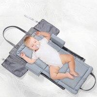 We Flower Portable Baby Crib Nursery Travel Folding Baby Bed Bag Infant Toddler Cradle Multifunction Storage Bag For Baby Care