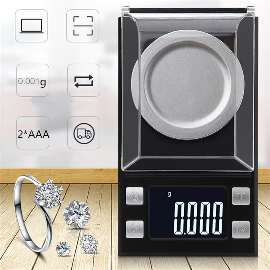 50g/0.001g LCD numérique bijoux balances poids de laboratoire haute précision échelle usage médical Portable Mini Balance électronique - 2