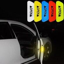 Uds de advertencia de coche marca cinta reflectante para Mitsubishi Asx Lancer 10 Outlander Pajero Sport 9 L200 Colt Galant Carisma Grandis