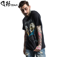 DHTEMA Brand Cotton Mens T shirts Printing Men Streetwear Casual Tops Tees Camisetas Hip Hop American T-shirts