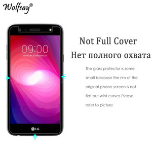 Image 2 - 2pcs For Glass LG X Power 2 Tempered Glass For LG X Power 2 Screen Protector For LG X Power2 Protective Film M320 M320N Wolfsay