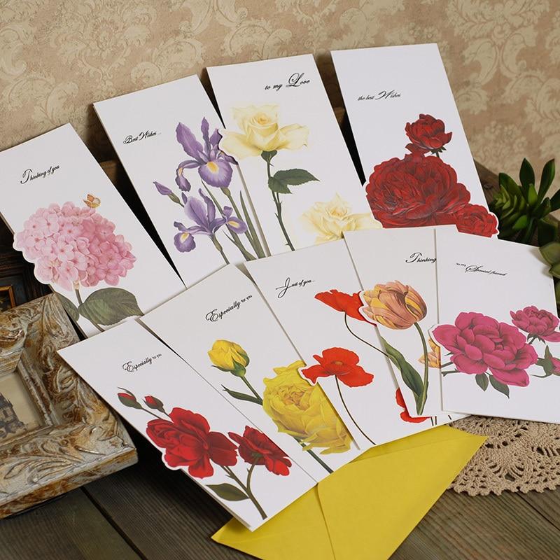 beautiful flower greeting cards with envelopeshandmade