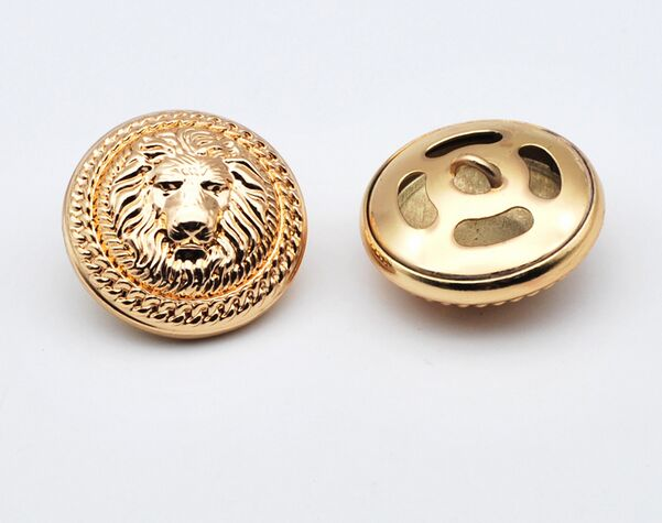 Home & Garden 10pieces High Grade Retro Metal Bronze Lion Head Jacket Buttons Shirt Sweater Button Decorations Accessories 23mm Free Shipping
