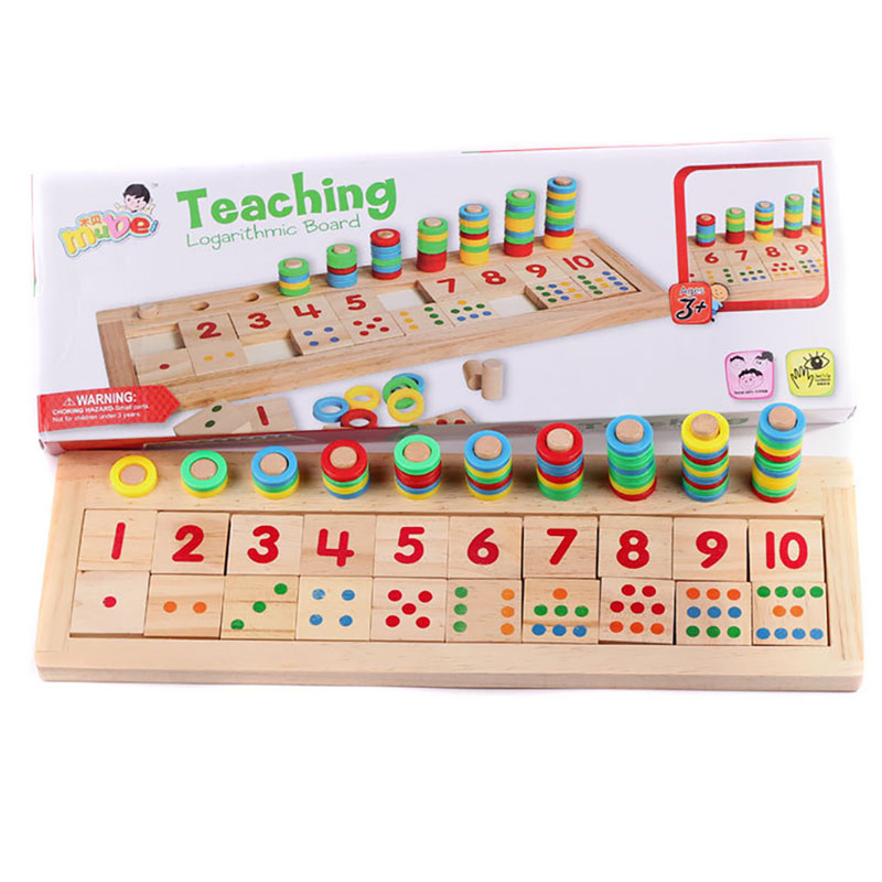 Jouets éducatifs en bois Montessori pour enfants jouets logarithmiques numériques Mini planche de bois jouets mathématiques sensoriels Juguetes Montesori et013