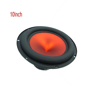 I Key Buy Bass Speaker Loudspeaker Subwoofer Woofer 10 Inch 4 Ohm 600 Watts Car Play Music Audio 94db Orange 2 pcs 35mm 75mm audio speaker woofer loudspeaker dome pp dust cap cone cover