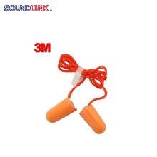 3M 1110 anti-noise earplugs soundproof earplugs sleep earplug with rope bullet style ear protection NRR:29db