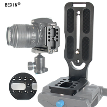 BEXIN tripod dslr camera arca swiss Quick Release L Plate L shape bracket holder hand grip with 1/4 screw for canon nikon sony цена и фото
