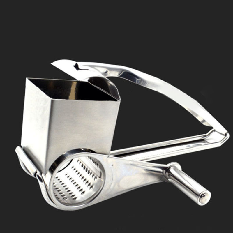 Stainless Steel Manual Rotary Grater Multi Purpose Rotary Cheese Nut Spice Shredder