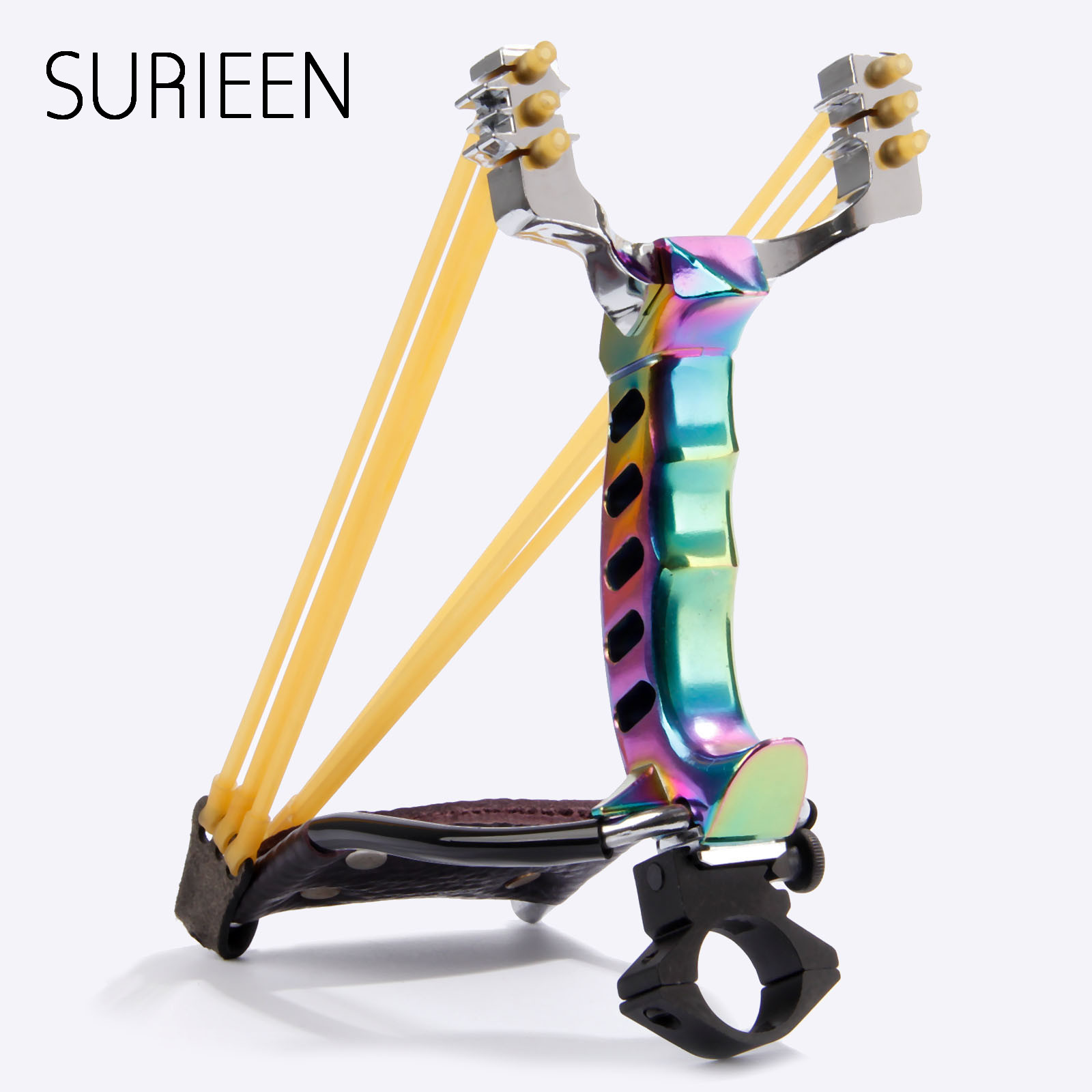 SURIEEN Rubber Band+Steel Ball+Folding Wrist Slingshot Catapult Outdoor Powerful Sling Shot Hunting Bow Arrow Hunting Slingshots