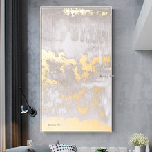 Whosale 100% Hand painted gold Painting Abstract Oil on canvas art wall paintings for Living Room home Decoration