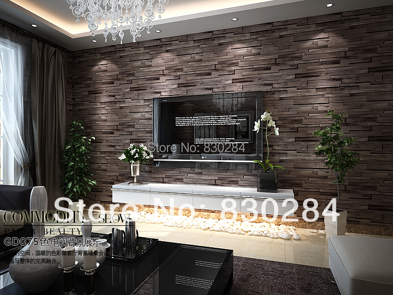 3d brick wall paper vintage for living room bedroom pvc