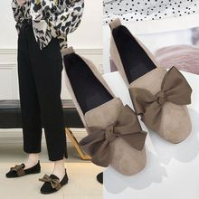 STRAVEL Fashion Female Leather Shoes Women Mules Bow Tie Soft Pu Flat Slipper Slip-On Shoes Casual Flats Loafers Quality недорого