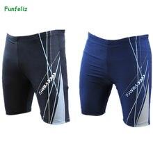 c26b3a9a37 Men swimming trunks black blue swimwear male beach wear jammer men bathing  suit plus size XL-4XL