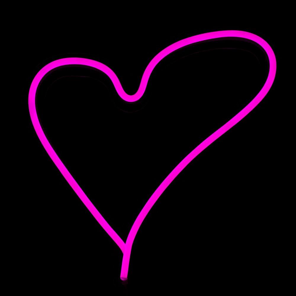Chi-Buy Sevgi Ürəyi LED Neon işıq Divar asma Neon işarələri - Ev dekoru - Fotoqrafiya 2