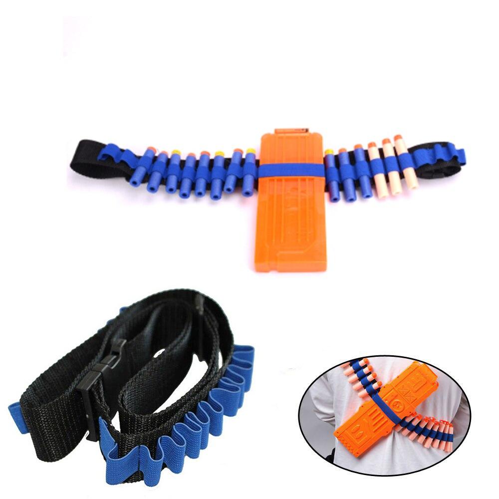 Blue Kids Toy Gun Bullet Shoulder Strap Darts Ammo Storage Holder For Nerf TSLM1