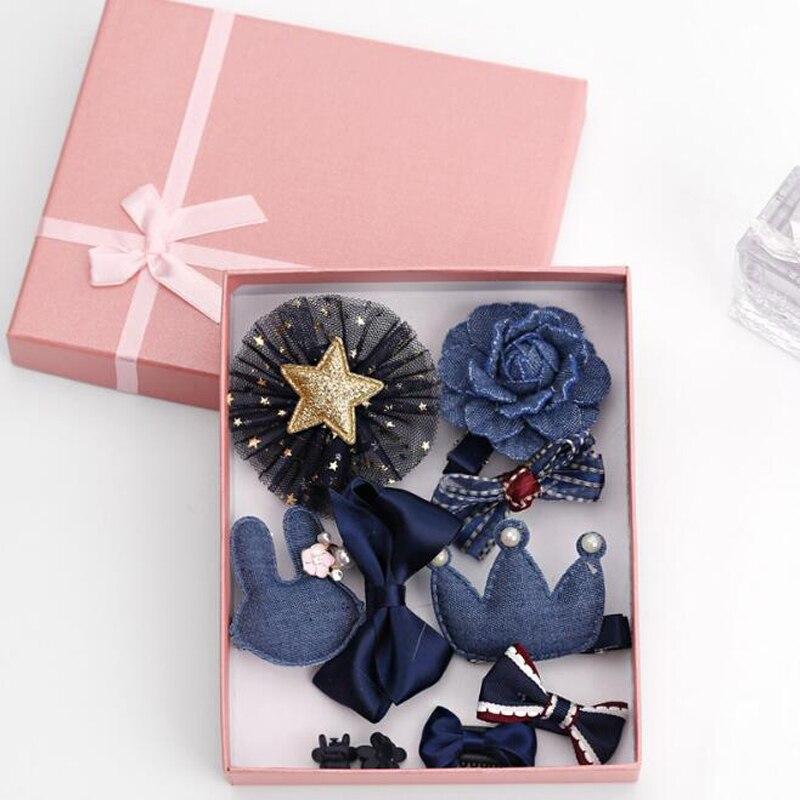 2018 10Pcs Cute Crown Bowknot Kind Hairpin Set Flower Star Girls HairClip Hair Accessories Headwear Headband Hairgrip New