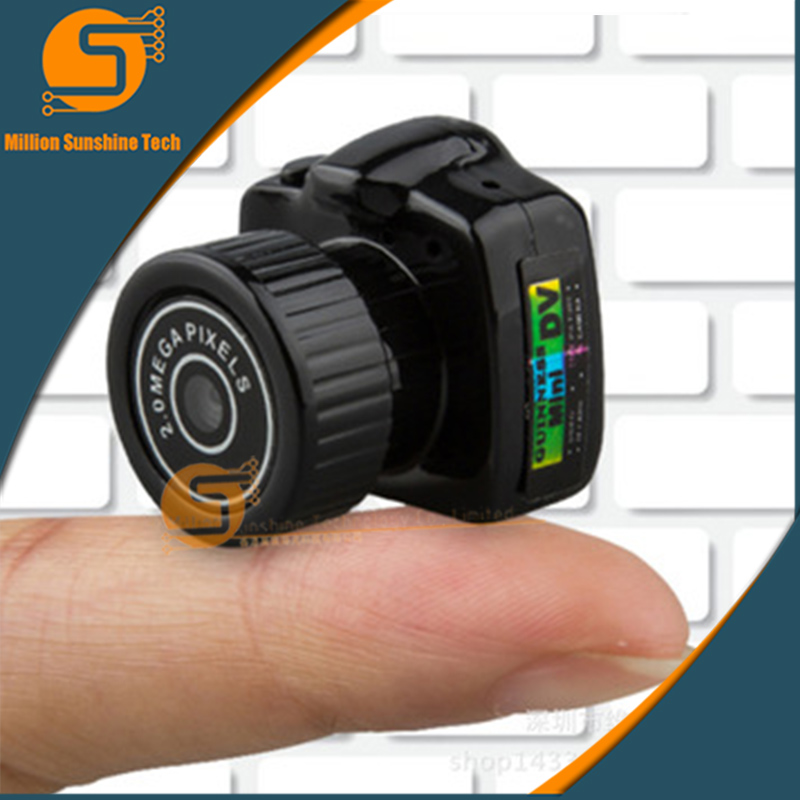 Y2000 Cmos Super Mini Video Camera Ultra Small Pocket 640*480 480P DV DVR Camcorder Recorder Web Cam 720P JPG Photo