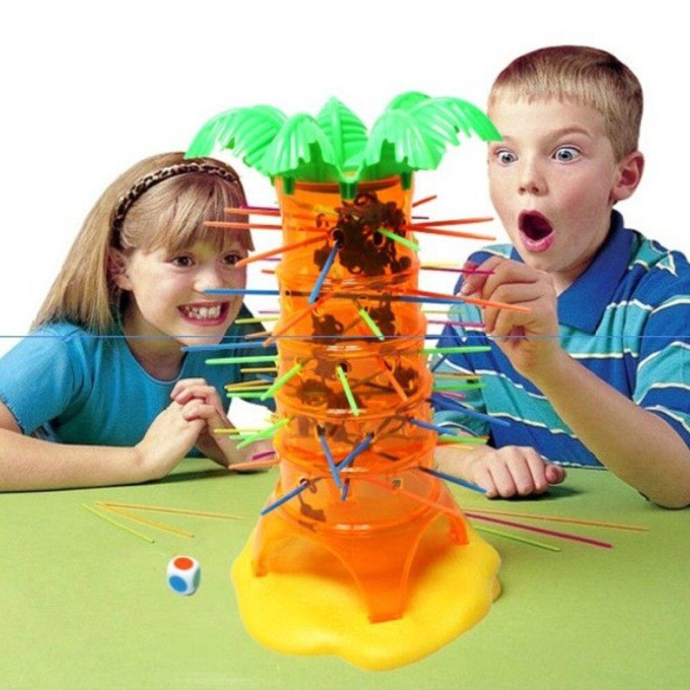 BOHS Fallen Tumbling Monkeys Spiel von Geschick & Action Kinder Kinder Spielzeug Hobbies Elternschaft Desktop Familie Spiel, mit Geschenk Tasche