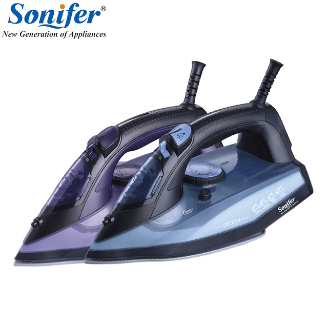 2200W home laundry appliances Electric Steam Iron For Clothes Multifunction Adjustable Ceramic soleplate iron