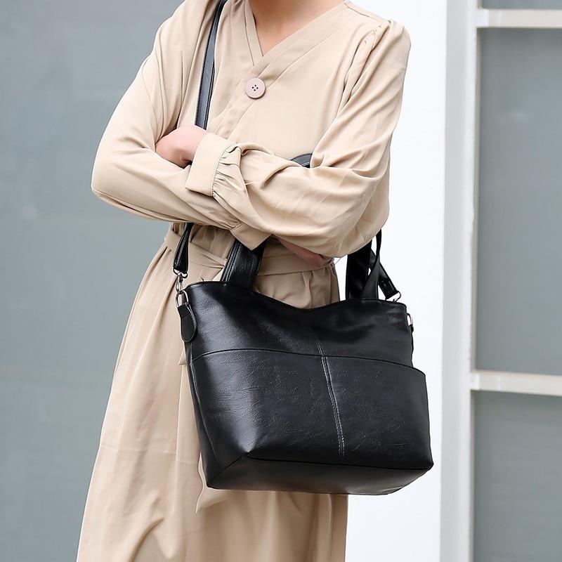 senhoras bolsas de couro das mulheres alta