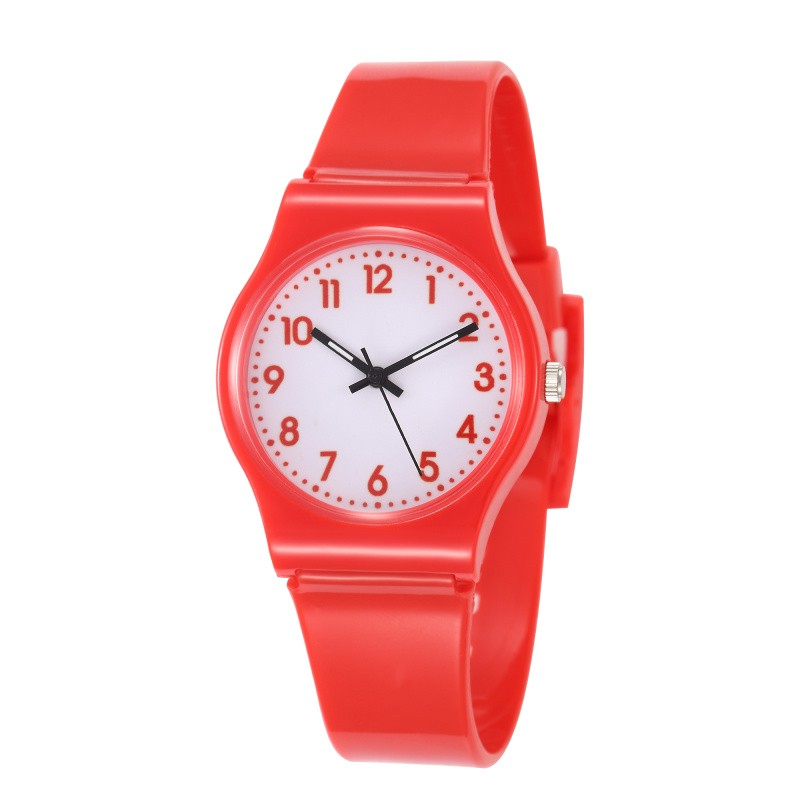 Pink Red Silicone Children Kids Hand Watch Clock Cute Boys Girls Quartz Watches Wristwatches Relojes Nina Nino Montre Enfantt