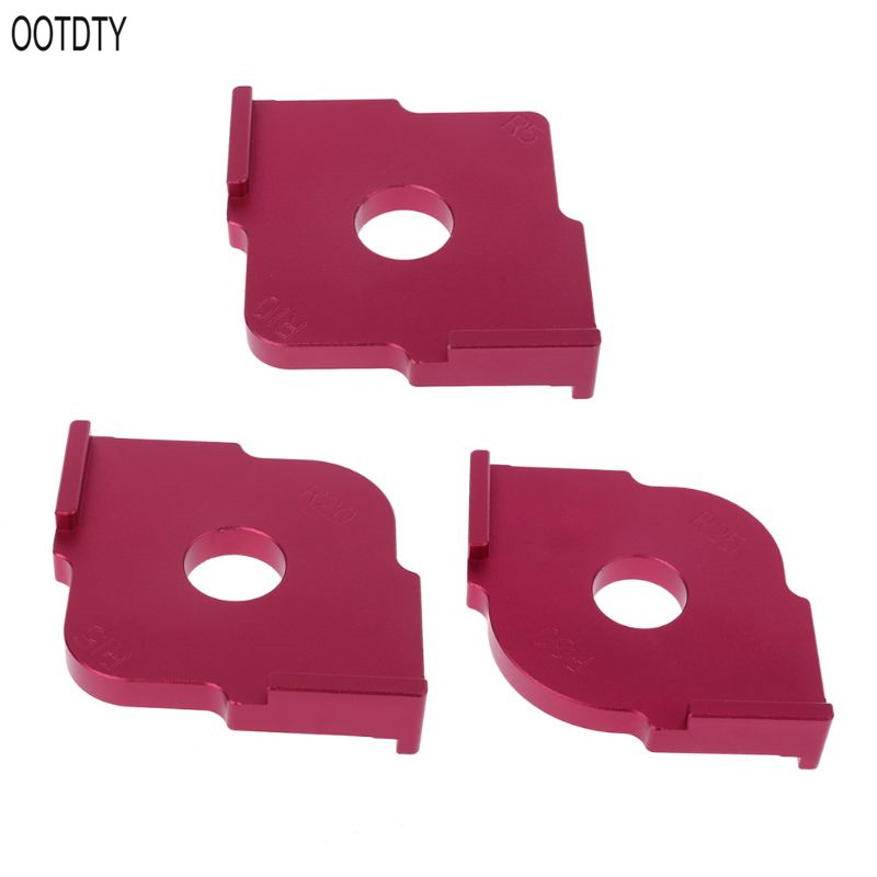 OOTDTY Woodworking Trimming Radius Jig Router Templates Aluminium Alloy Corners R5 R10 R15 R20 R25 R30