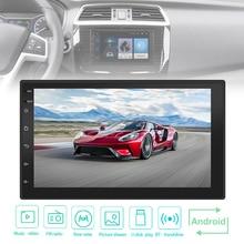 цены 7 Inch QUAD Core 2 Din Bluetooth Car FM Radio Stereo Player 1024x600 Digital Touch Screen GPS Navigation Mirror Link WiFi for Ca
