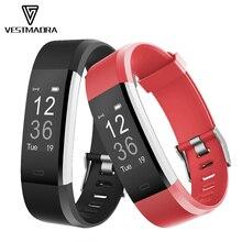 Vestmadra ID115HR плюс Смарт Браслет спортивная Монитор Сердечного Ритма Смарт-группа смарт-фитнес-трекер Браслет для IOS Android