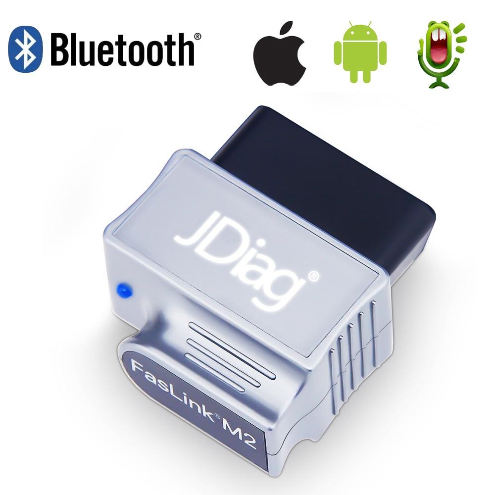 US $33 12 8% OFF|OBDII Bluetooth Scanner Car Diagnosis JDiag FasLink M2 OBD  2 Engine Code Reader PK BlueDriver EasyDiag iDiag Automotive Scanner-in