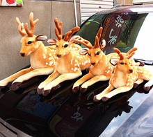 The Sika deer toys lovely sitting plush doll soft cute Sika deer doll birthday gift about