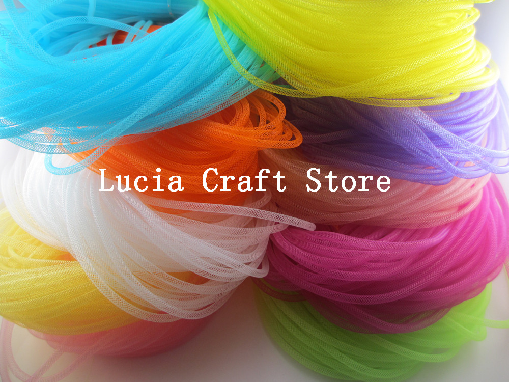 Lucia Crafts Approx 38-44 Meters 4.5mm Nylon Net Belt Handmade Florist Floral Material M0402