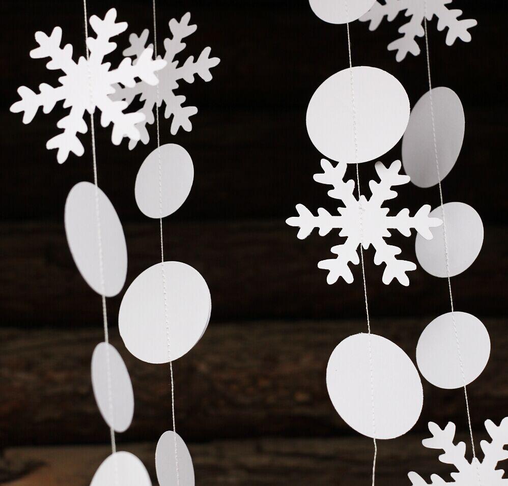 unids brillante guirnalda de copo de nieve decoracin de navidad decoracin navidea invierno manto decoracin copo de nie
