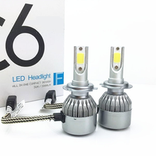 H4 H7 LED Car Headlight C6 H1 H3 Headlamp Light H8/H11 HB3/9005 HB4/9006 9012 9007 H13 6500K 72W 8000LM All In One Car