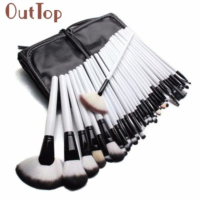 makeup brushes Full Professional 36PCS Soft Cosmetic Eyebrow Shadow Makeup Brush Set Kit +Free Pouch Bag ar12dropship