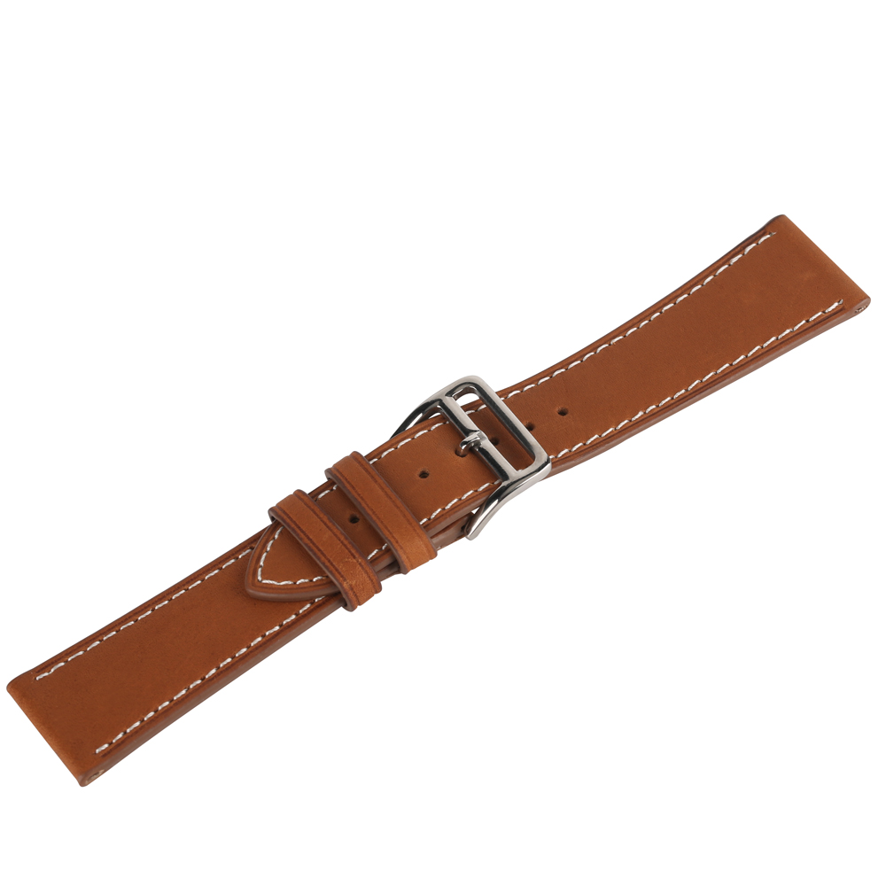 22/24mm Brown Color Cowhide Genuine Leather Watch Band Pin Buckle Men Watches Strap Luxury Fashion Replacement Bracelet