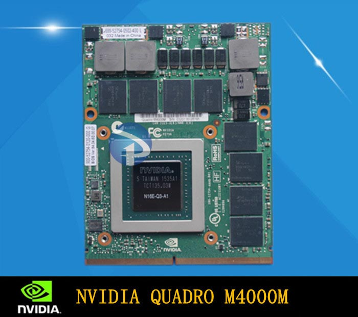 New Quadro M4000M professional graphics card with 1 year warranty