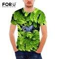 Forudesigns novidade 3d lobo tiger impresso t-shirt curto masculino verão respirável aptidão t camisa para homens moderno tees camiseta