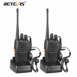 2 pcs Retevis H777 Walkie Talkie UHF 400-470MHz Ham Radio Hf Transceiver Two Way Radio Communicator USB Charging Talkie Walkie