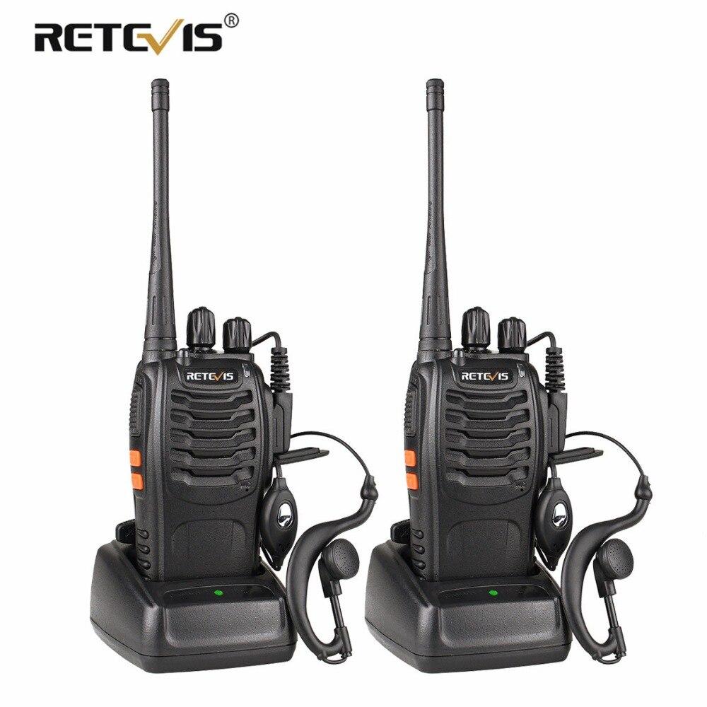 2 piezas Retevis H777 Walkie Talkie UHF 400-470 MHz Radio Hf transceptor de Radio de dos vías comunicador USB carga de Walkie Talkie