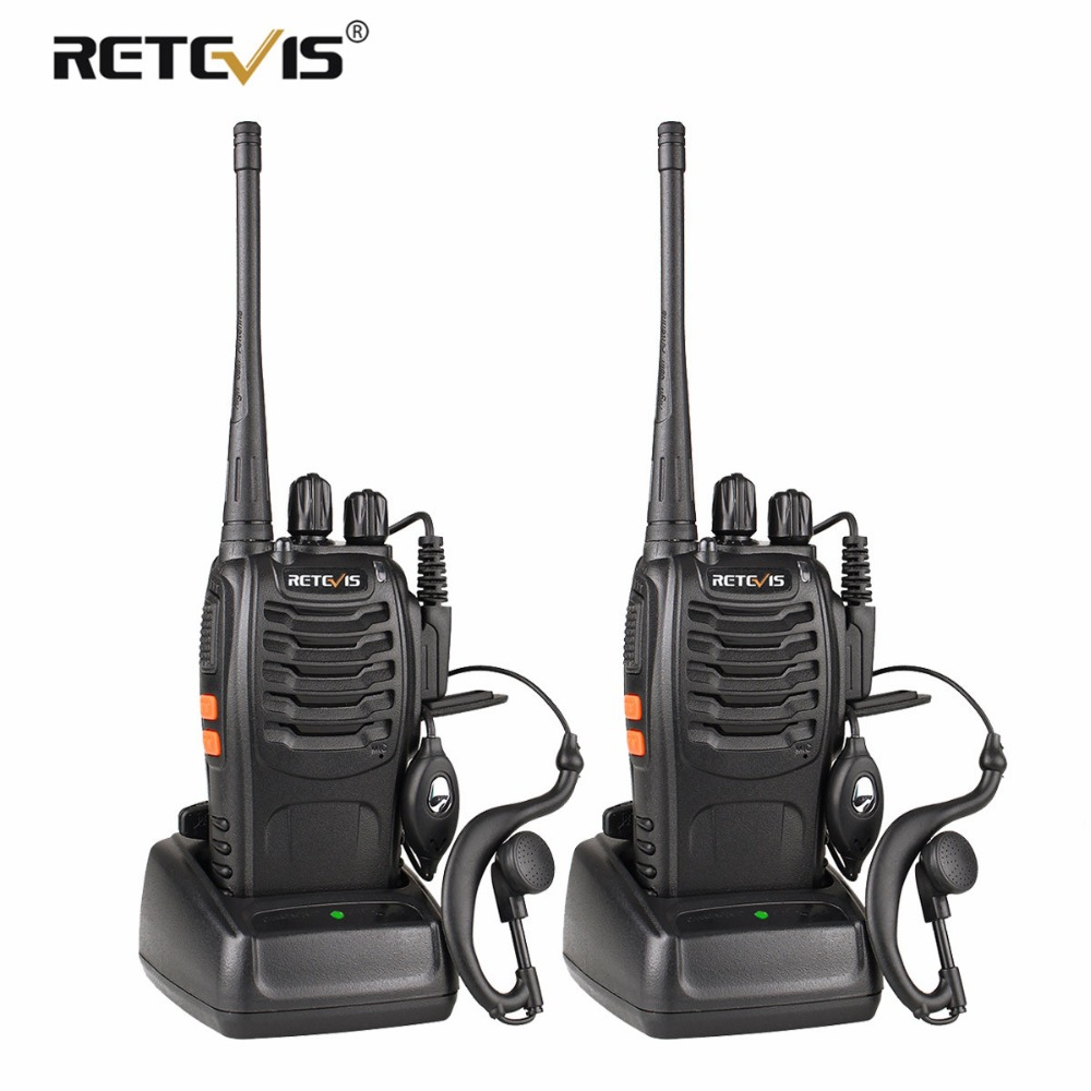 H777 2 pcs Retevis Walkie Talkie UHF 400-470 mhz Rádio Amador Hf Transceiver Rádio em Dois Sentidos Comunicador USB carregamento Walkie Talkie